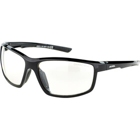 Alpina Defey Okulary, black matt/clear mirror